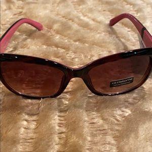 Liz Claiborne Black & Pink Sunglasses